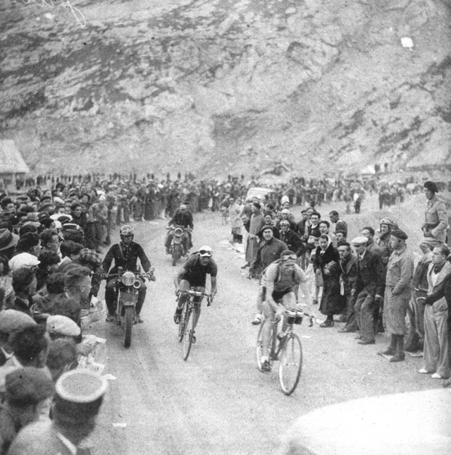 Vicini leads up the Galibier