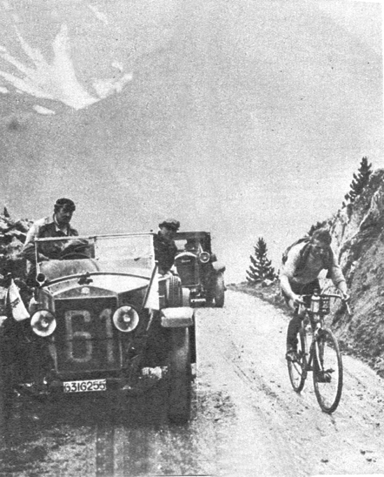 Bartolomeo Aimo is first over the Izoard in the 1926 Tour