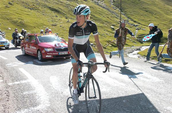 Andy Schleck on the Izoard in the 2011 Tour de France