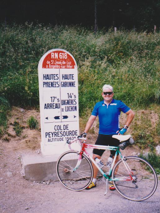 Larry Theobald at the crest of the Peyresourde