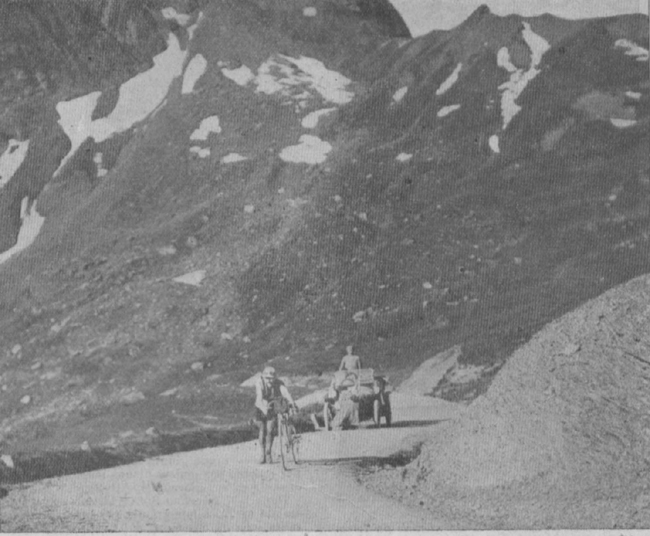 Octave Lapize on the Tourmalet