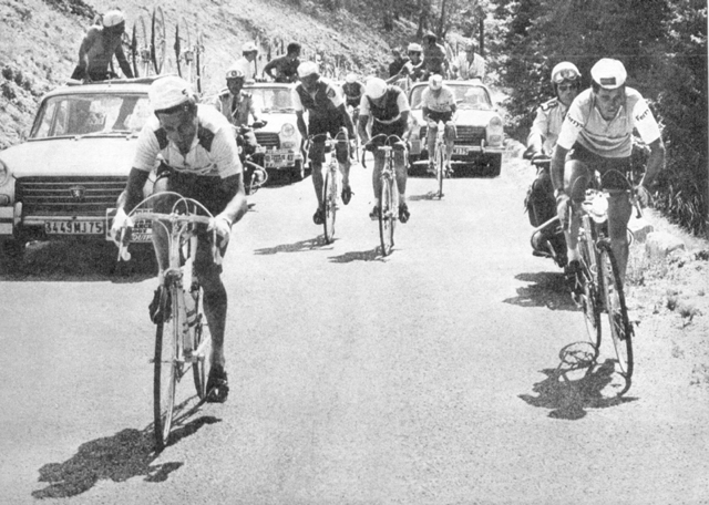 Tom Simpson on Mont Ventoux in the 1967  Tour