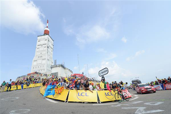 Richie Port near the summit of Mont Ventoux in the 2013 Tour de France