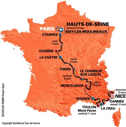 Paris Nice Pro Tour Results - Paris to nice
