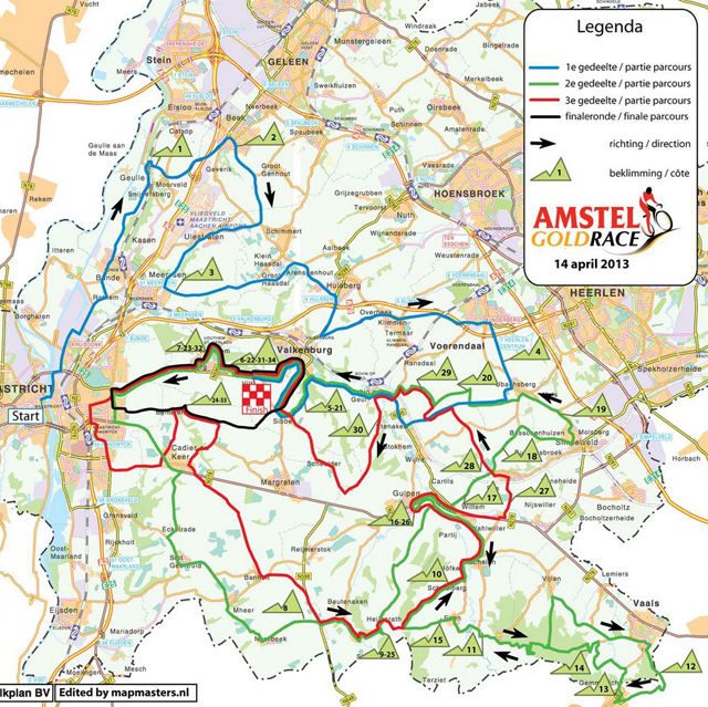 2013 Amtel Gold Race map