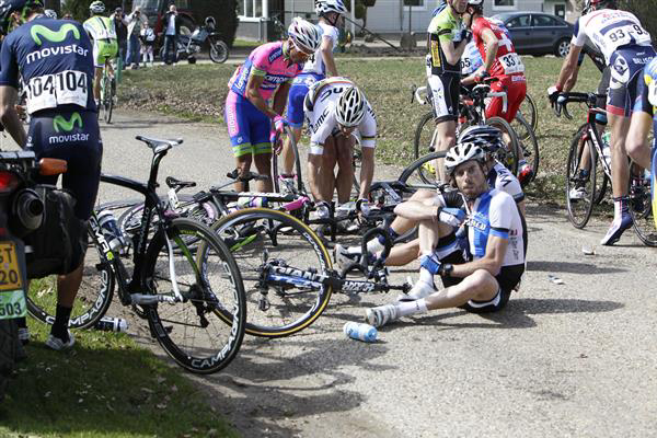 Philippe Gilbert in crash
