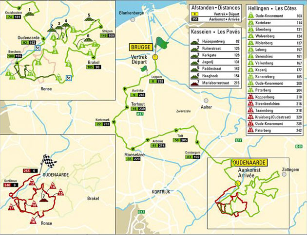 Tour of Flanders map