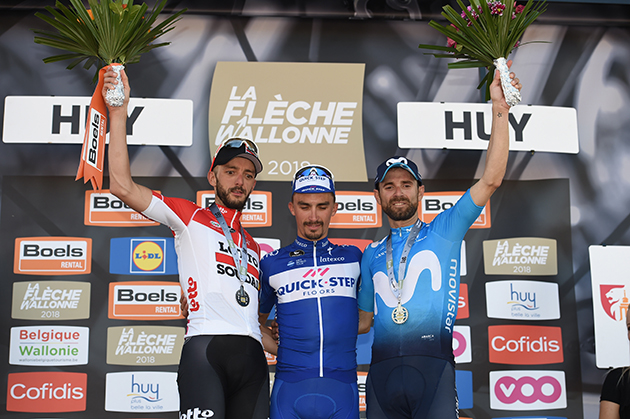 Fleche Wallone podium