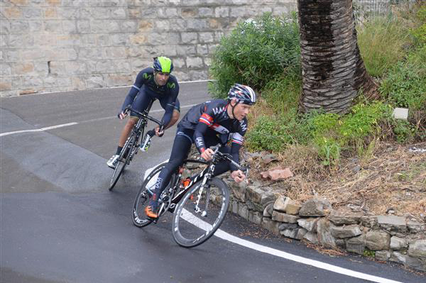 Sylvain Chavanel and Francisco Ventoso