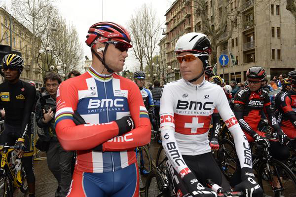 Thor Hushovd and Michael Schar