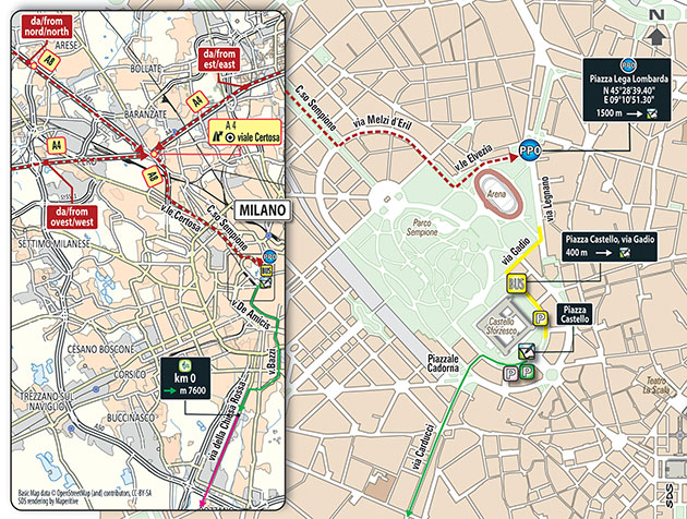 2016 Milan-San Remo departure area map