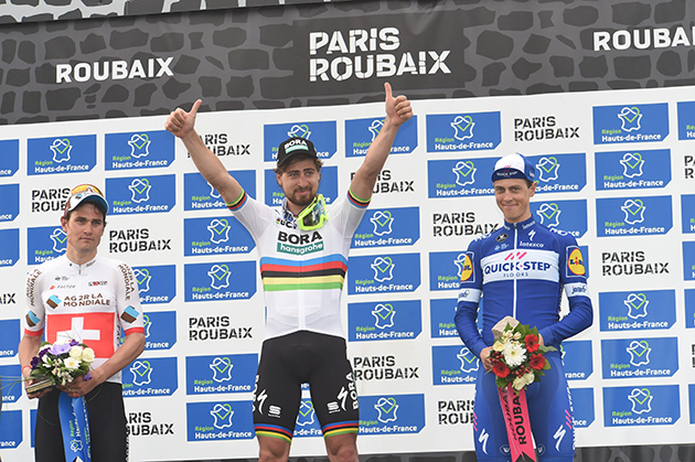 PAris-Roubaix podium