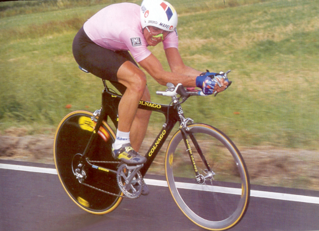 Tony Rominger time trialing
