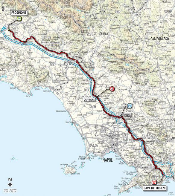 Stage 9 route map