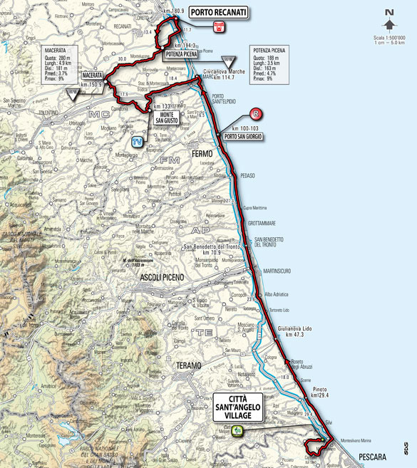 Stage 12 route map
