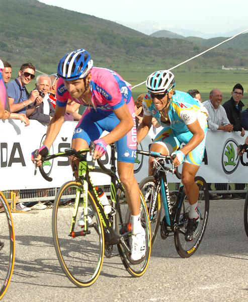 Michele Scarponi and Paolo Tiralongo