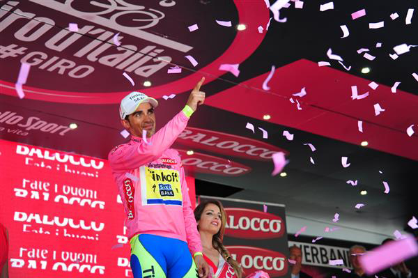 Alberto Contador extended his lead in stage 18