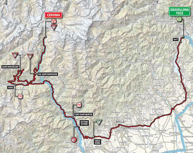 Giro d'Italia Stage 19 map