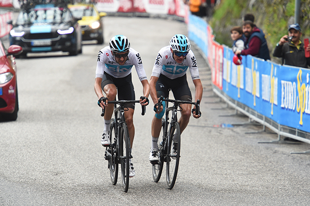 Chris Froome and Wout Poels