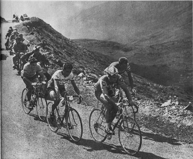 Poulidor, Anquetil and Bahamontes in the 1963 Tour de France