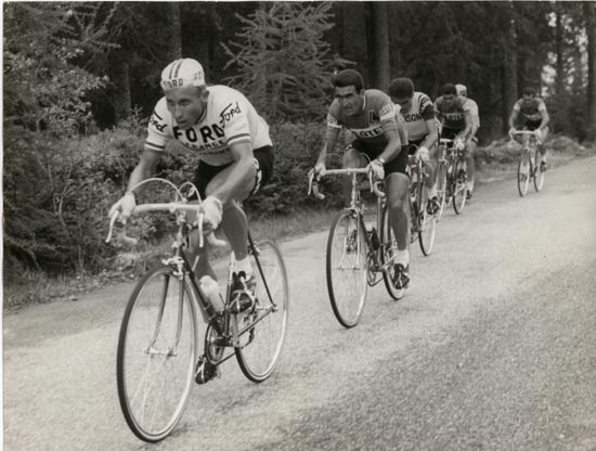 Anquetil and Bitossi in the 1966 Giro d'italia
