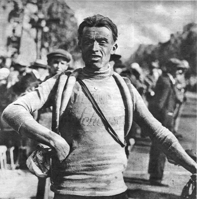 Ottavio Bottecchia after sinning the 1925 Tour de France