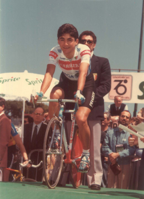 Chiappucci ready to ride the 1987 Giro d'Italia prologue