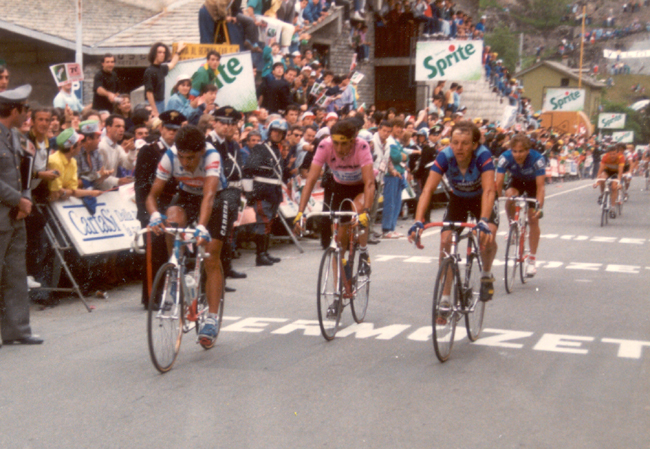 Chiapucci finishes the 1988 Giro d'Italia's 13th stage