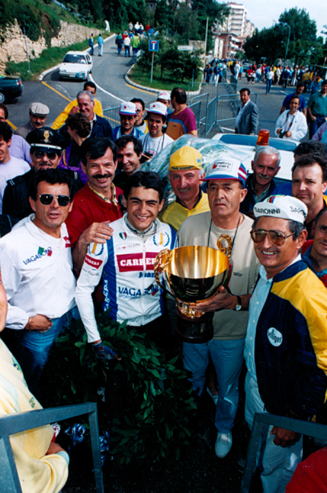 Chiappucci ccelebrates his 1989 Coppa Placci win