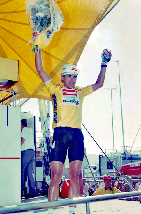 Chiappucci in yellow