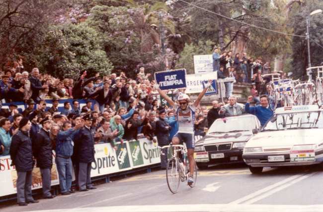 Claudio Chiappucci in the 1991 Milano-San Remo