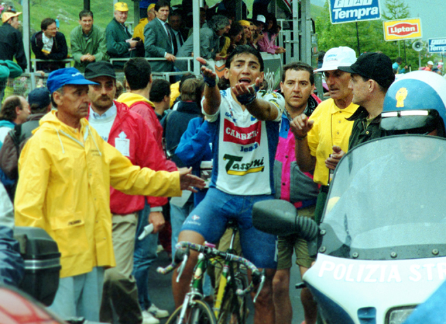 Chiappucci after stage 17 of the 1993 Giro