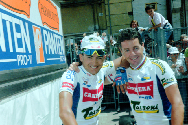 Claudi Chiappuci with stephen Roche