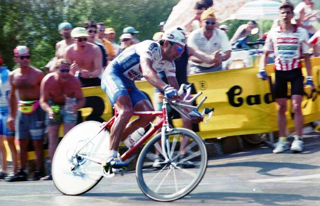 Chiappucci rides stage 19 of the 1996 Giro d'Italia