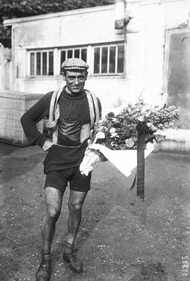 Eugene Christophe after the 1912 Tour de France