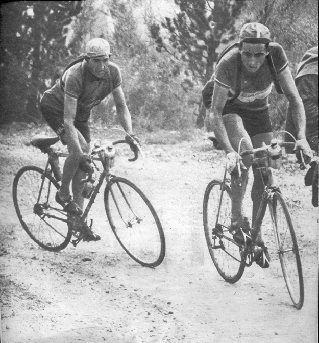 1949 Tour de france, stage 16: Coppi leads Bartali on the Izoard