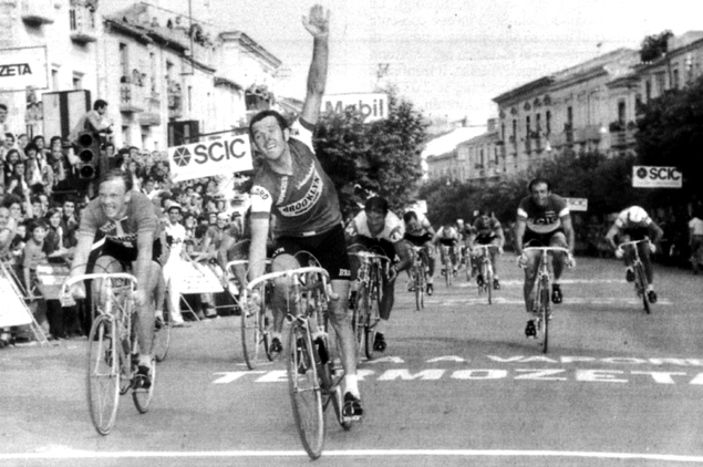 Roger de Vlaeminck wins stage 6 in the 1975 Giro d'Italia