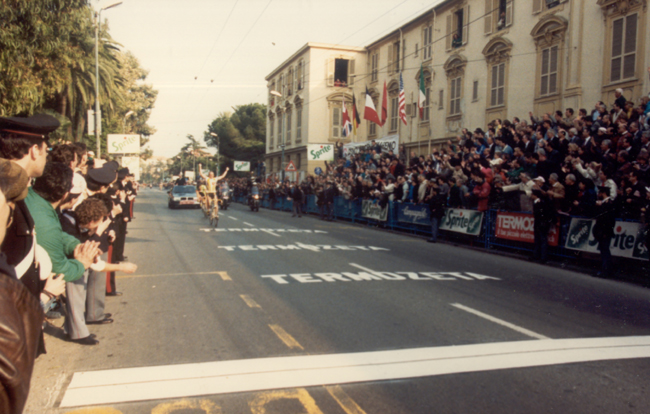 Laurent Fingon wins the 1988 Milano-San Remo