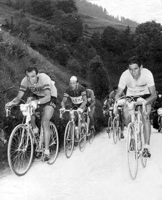 Baldini leads Gaul in the 1957 Giro d'Italia