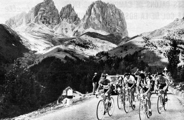 Charly Gaul in the 1958 Giro d'Italia