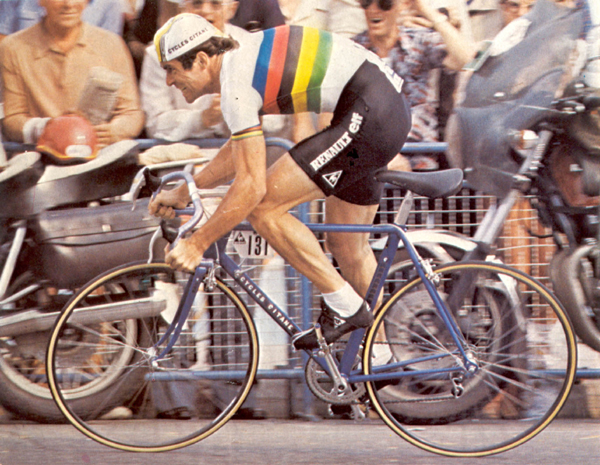 Bernard Hinault winning the prologue of the 1981 Tour de France