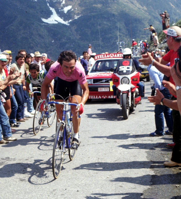 Beranrd Hinault in the 1982 Giro d'Italia