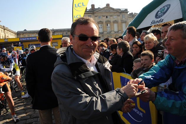 Bernard Hinault at the 2010 Paris-Roubaix