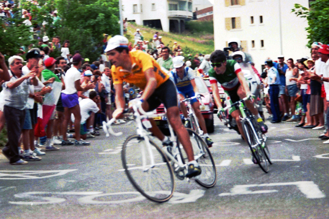 Indiran races in the 1991 Tour de France