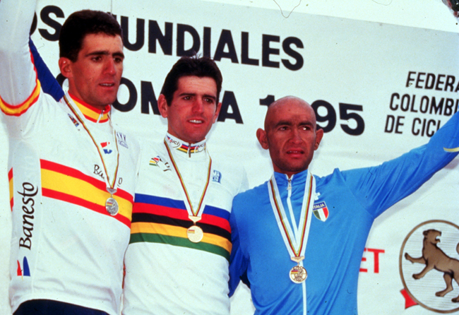 World Road Championships podium