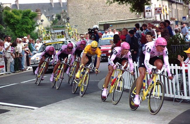 Team ONCE in the 1995 Tour de France