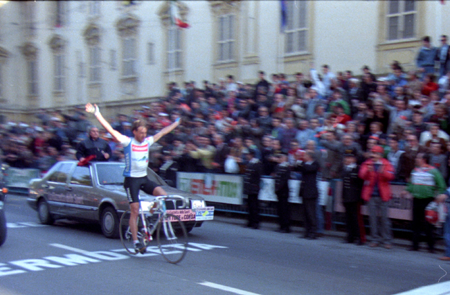 Erich Maechler wins the 1987 Milano-San Remo