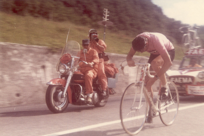 Eddy MErckx in the 1969 Giro d'Italia