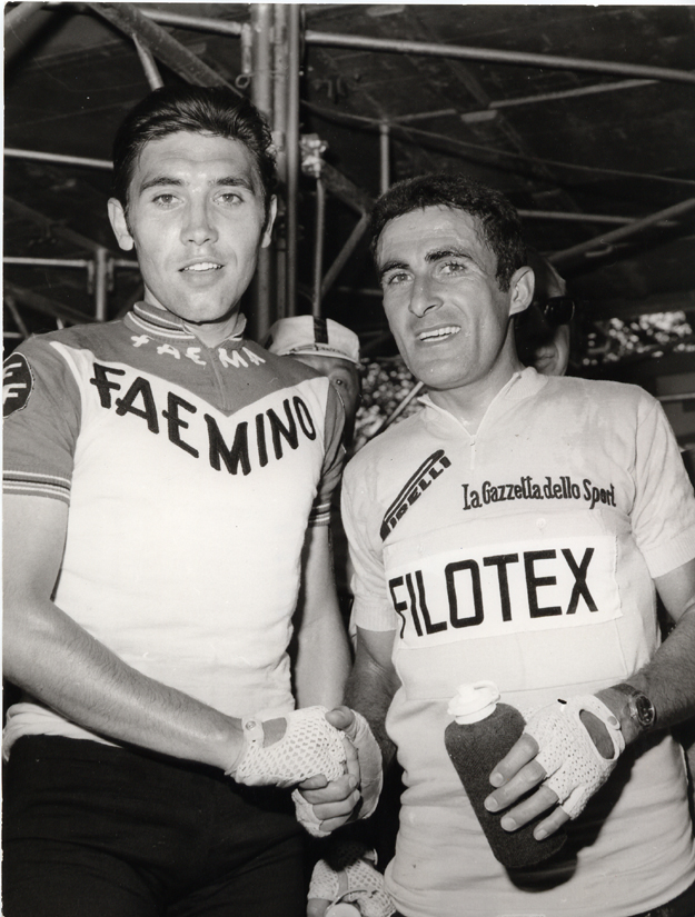 Franco Bitossi and Eddy MErckx early in the 1970 Giro