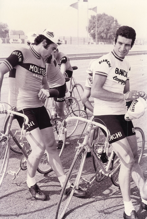 Eddy Merckx and Felice Gimondi
